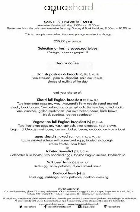 English Breakfast Menu Sample Best Menu Template Design