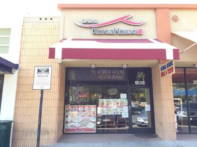 Korea House Menu