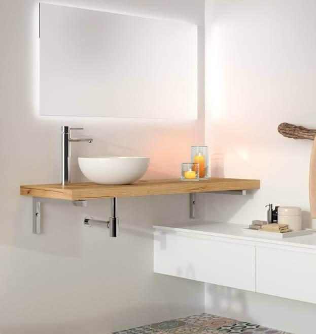 Habitium Plan De Toilette En Bois De 4 Cm Spirit Salgar 23016 Acheter