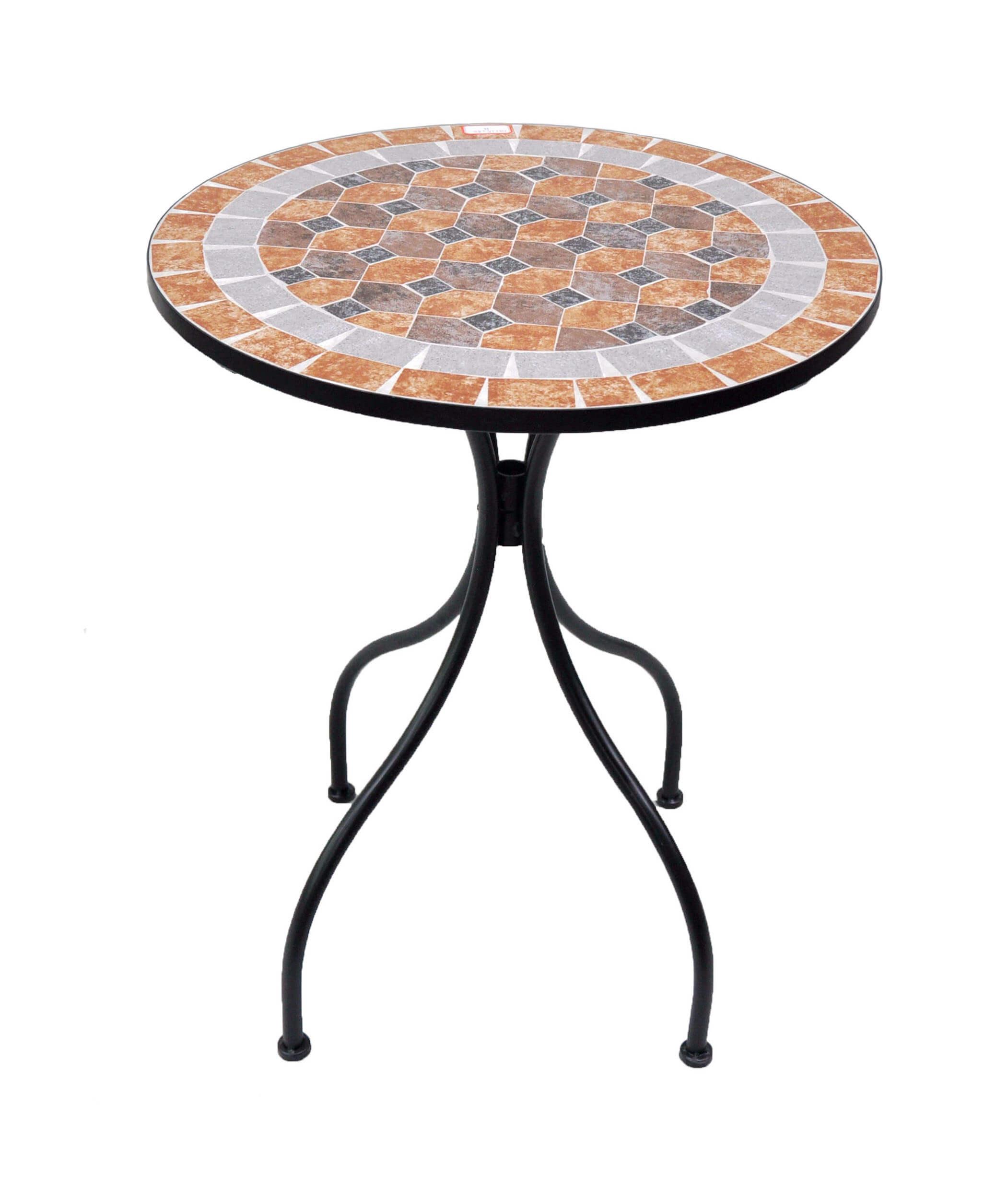 table ronde mosaique naxos de resol