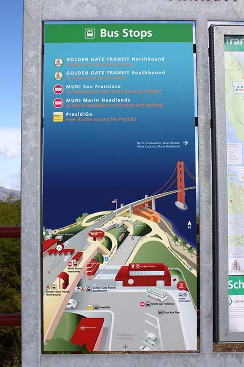 ゴールデンゲートブリッジのバス停 (Golden Gate Bridge Bus Stops)