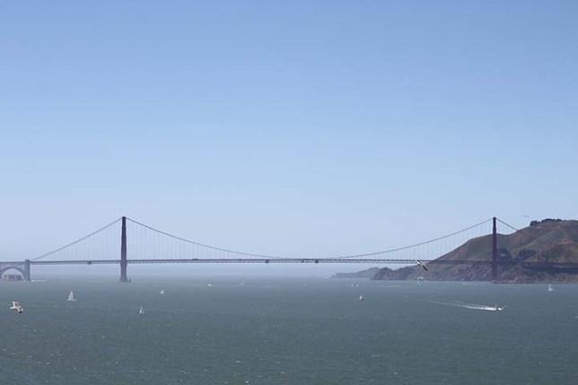 アルカトラズ島から見たゴールデンゲートブリッジ (Golden Gate Bridge view from Alcatraz Island)