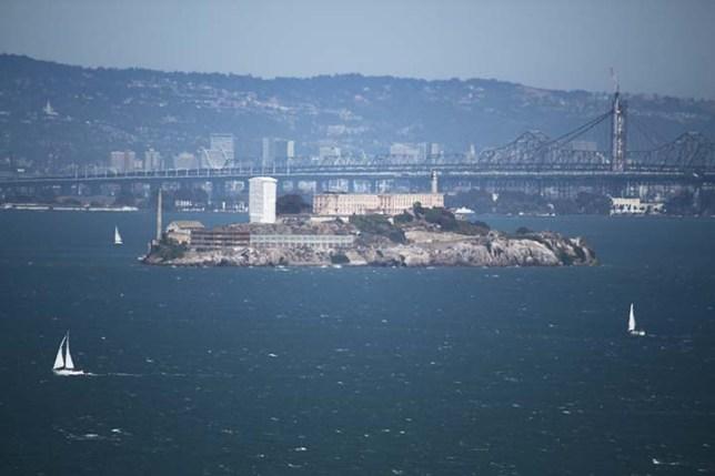 Alcatraz Island view from Sausalito