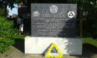 """Dad """"visits"""" the 379th Memorial in Kimbolton, England June 2014"""
