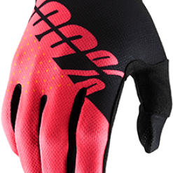 100% – Guanto iTRACK Black/Fluo Red