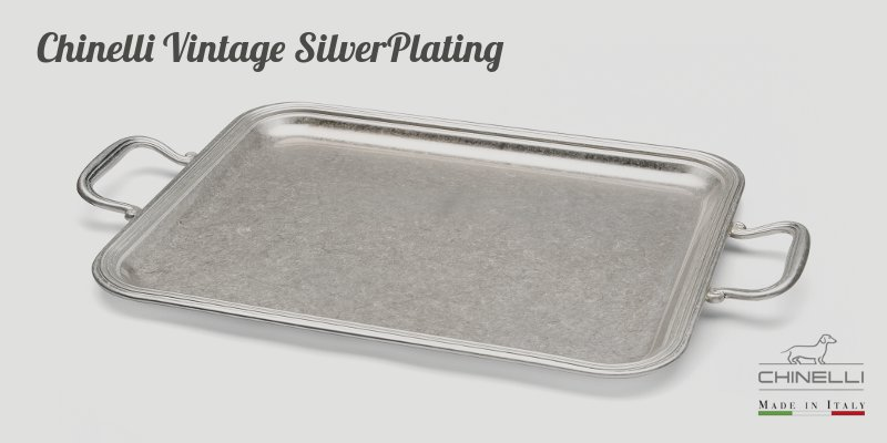 chinelli.it - Vintage Silverplating English Rectangular Tray