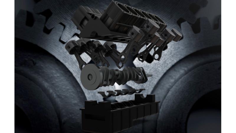 V12 Engine 3d Cad Models Amp 2d Drawings
