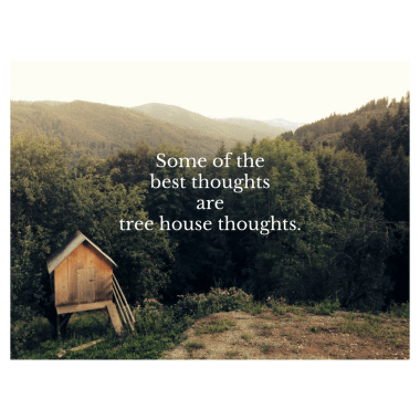Treehouse social media quote image