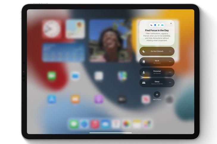 iPadOS 15 Focus Mode