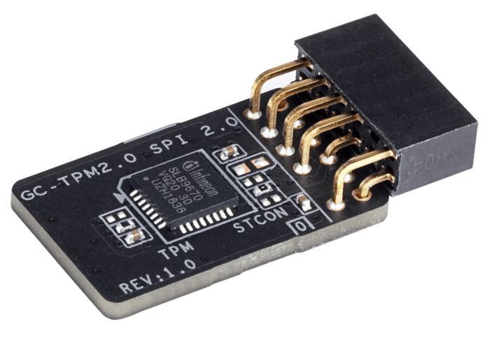TPM 2.0 module on white background