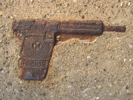 gun in cement