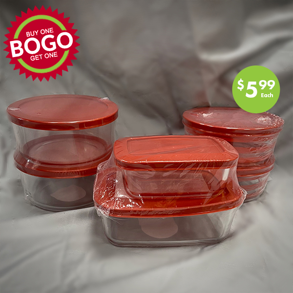 glass food storage containers BOGO sale