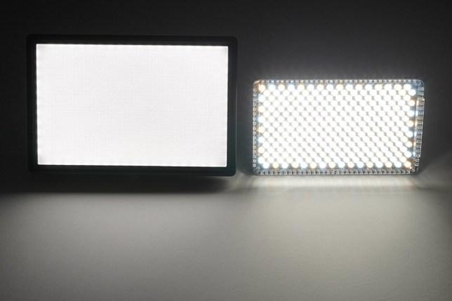 Viltrox L116TとAputure Amaran AL-F7 3200-9500K 明るさ比較