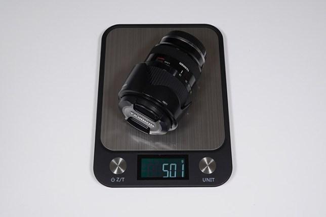 TAMRON 18-200mm F/3.5-6.3 Di III VC-重さ