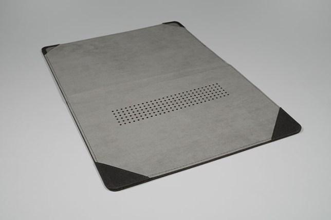 KOOL RIVER MacBook Air 13.3インチ用 手帳型 レザー ケース/カバー 開いた状態