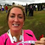Traci O'Shaugnessy - her first run for her late Uncle Chris - 5k in 30 minutes! Well done! (image courtesy of Traci)