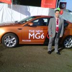 Cllr Andy Cartwright with the MG6