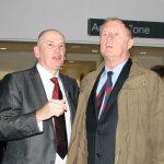 Principal Norman Caves & Chris Tarrant - caught unawares, sorry!