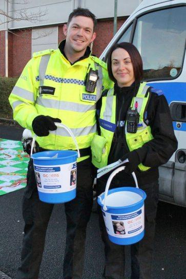 Sergeant Karl Pierpoint of Longbridge police with organiser PCSO Natasha Gardner