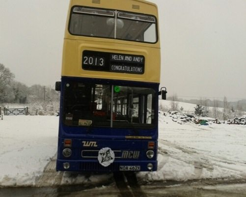 Helen & Andy's bus prepares to leave Bewdley