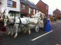 Jess and Kyle from Colmers travelled in style!