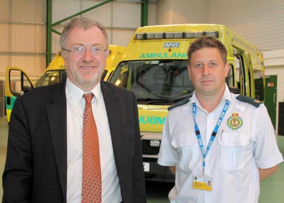 Richard Burden MP & Hollymoor area manager Dax Morris