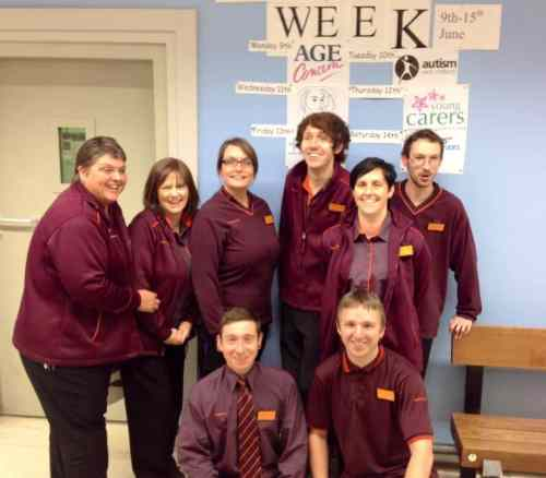 Staff at Northfield Sainsburys supporting Carers Week