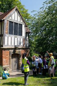 Pupils from Ark Rose Primary Academy learn about the Old Grammar School at St Nicolas' Place