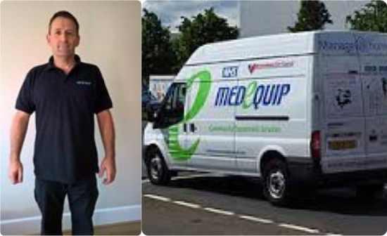 Genuine Medequip uniform and vehicle