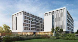 The new accommodation facility in Longbridge
