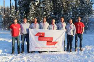 SPEAR17 team (left to right) Alex Brazier, Ollie Stoten, Expedition Leader Lou Rudd, paramedic Chris Brooke, Ian Quigley (*reserve), Alun George, Matt Brocklehurst (reserve), Jamie Facer-Childs.
