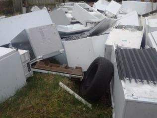 Fridges dumped in Ethan Grove, Hawkesley Feb 2017