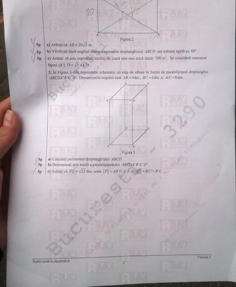 Subiecte evaluarea nationala la matematica