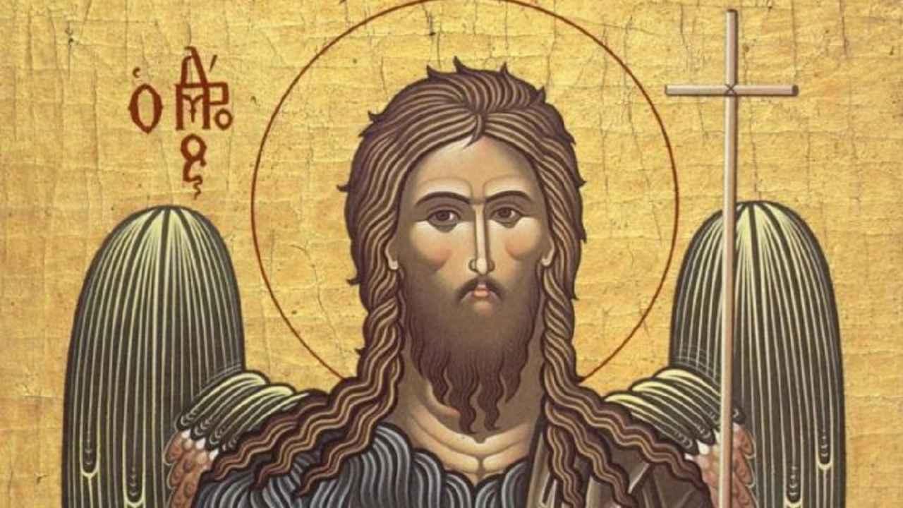 Icoană cu Sfântul Ioan Botezătorul