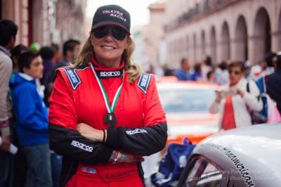 Renee Brinkerhoff (#152) en la llegada a Zacatecas