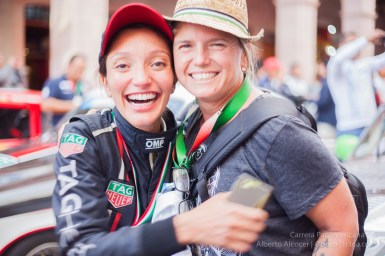 Laura Damiron (#115) y Christine Rotolo