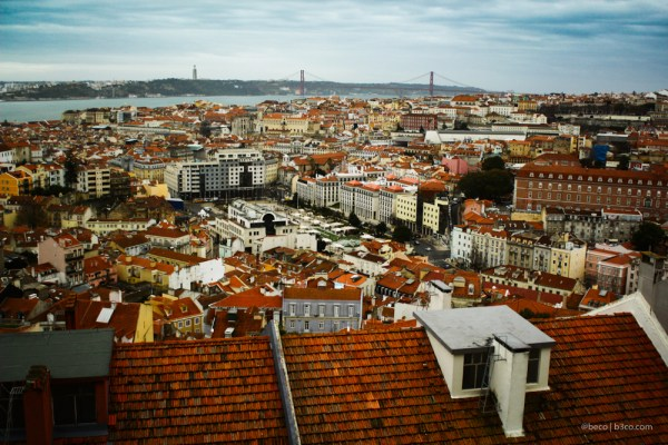 Lisboa desde mirador en Martin Moniz