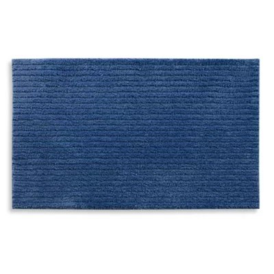 blue brown bath rug bed bath beyond