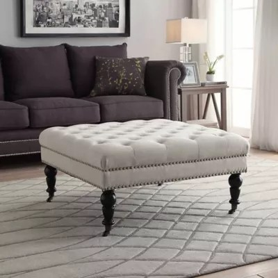 large tufted ottoman bed bath beyond