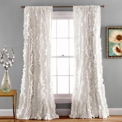 reyna light filtering rod pocket window curtain panel pair