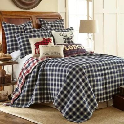 levtex home lodge reversible quilt set