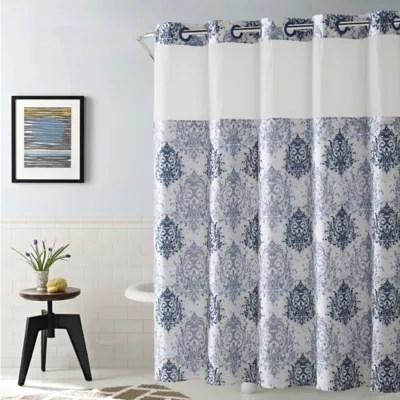 hookless ikat shower curtain
