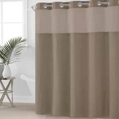Buy Hookless Waffle Fabric 54 Inch X 80 Inch Shower Curtain In Desert Taupe From Bed Bath Amp Beyond