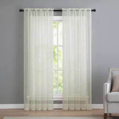 Buy VCNY Home Infinity Sheer Rod Pocket 108 Inch Window Curtain Panel In Ivory From Bed Bath