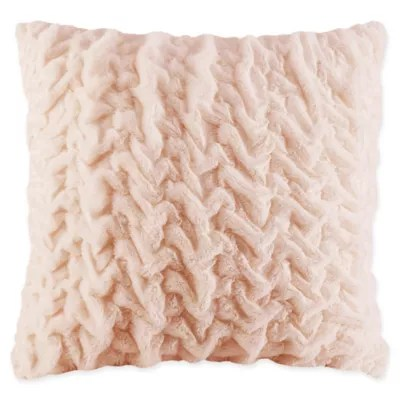 pink fur pillow bed bath beyond