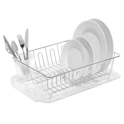 salt large dish drainer in silver