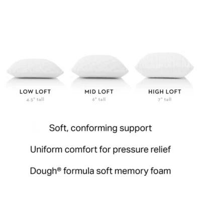 malouf z dough high loft plush queen memory foam pillow