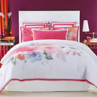 Christian Siriano Bold Floral Comforter Set Bed Bath