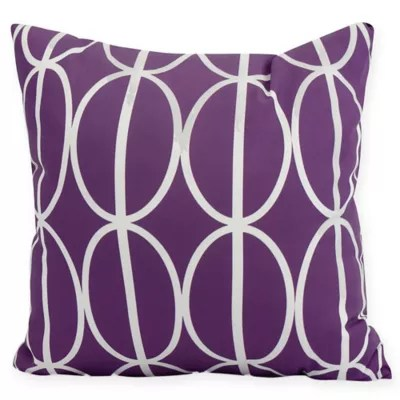 round purple pillow bed bath and