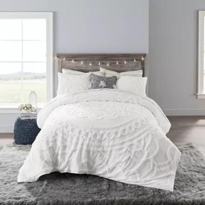 anthology tufted medallion comforter set